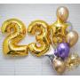 На день рождения цифры и фонтан