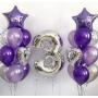 На день рождения цифра и фонтаны